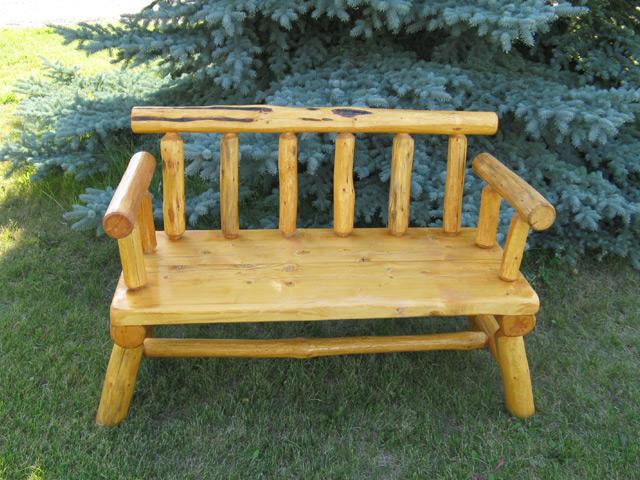 Rustic wood benches Higher Ground Log Furnishings : Garden Benchb from hglogfurnishings.com size 640 x 480 jpeg 147kB