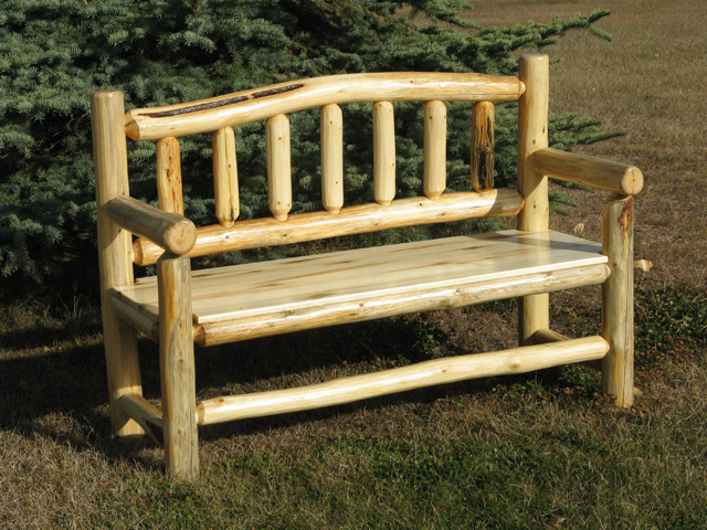 Rustic Wood Benches Higher Ground Log Furnishings